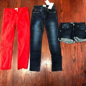 LOT OF 3 Hudson Kids Jeans Shorts Size 12